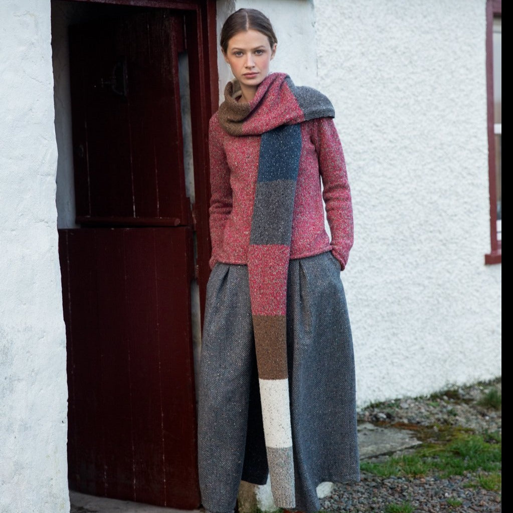 Colour Block Scarf - Irish Design Shop data-zoom=