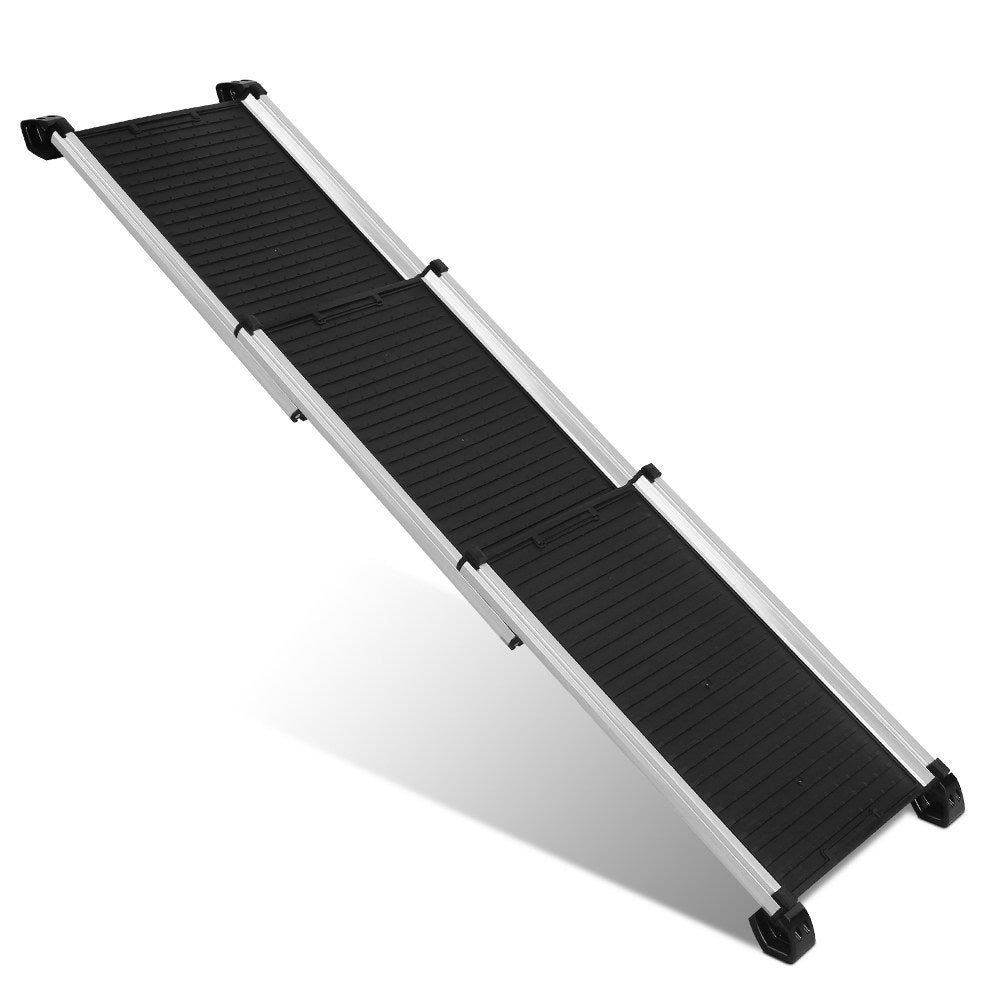 i.Pet Deluxe Aluminium Foldable Pet Ramp in Black - i.Pet