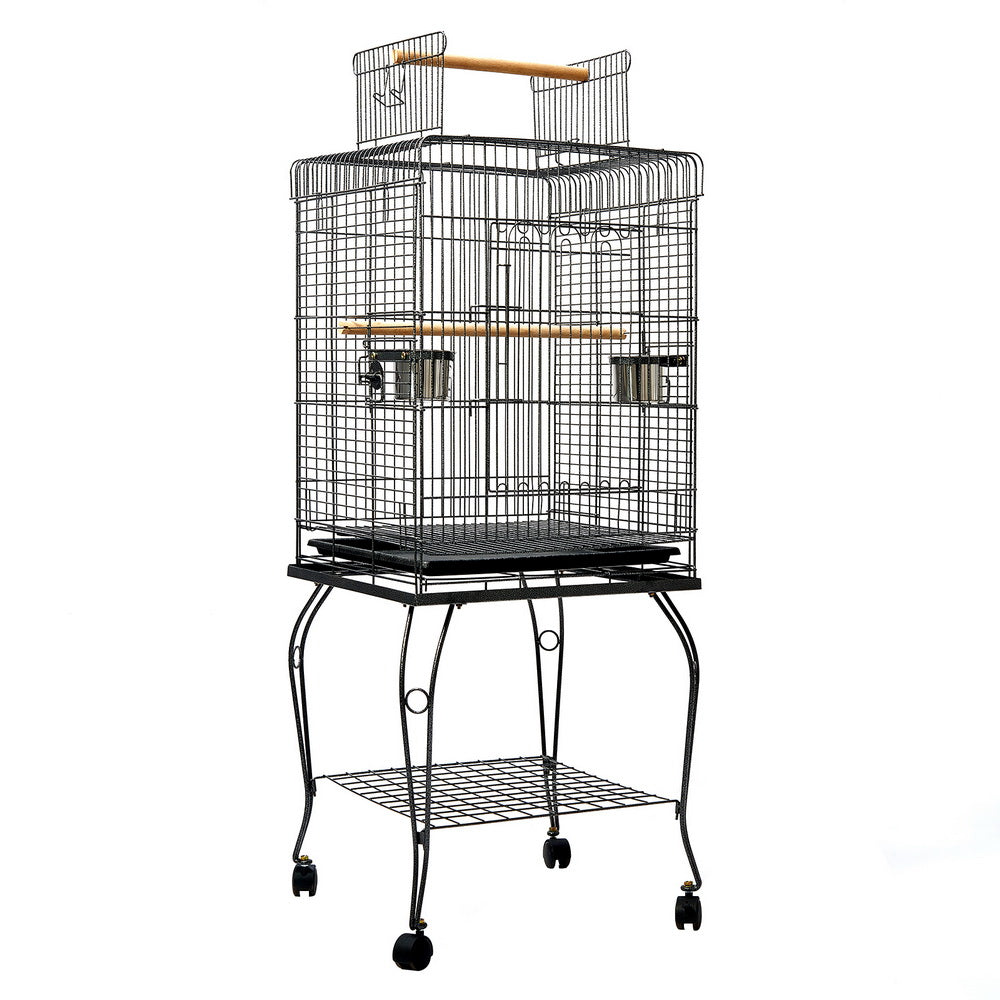 i.Pet Large Bird Cage with Perch - Black - i.Pet