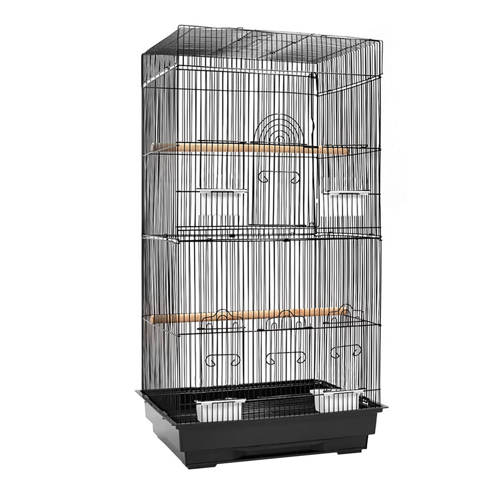 i.Pet Medium Bird Cage with Perch - Black - i.Pet
