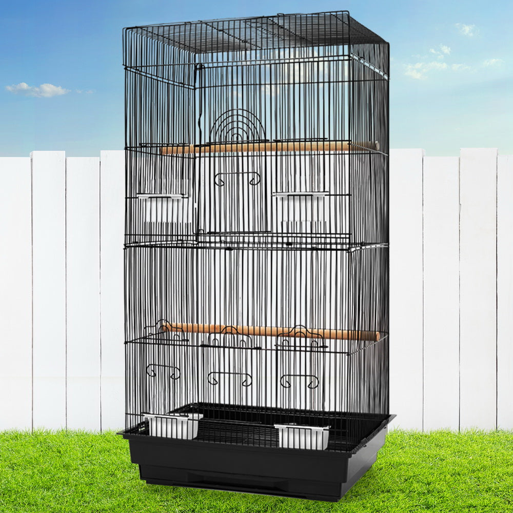 i.Pet Medium Bird Cage with Perch - Black - i.Pet Pet Supplies Australia