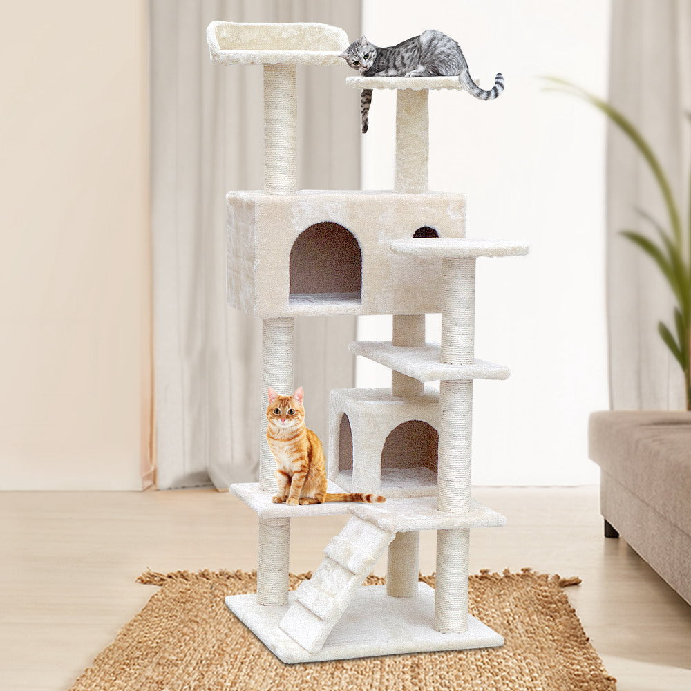i.Pet Beige Cat Scratching Post (134cm) - i.Pet Pet Supplies Australia