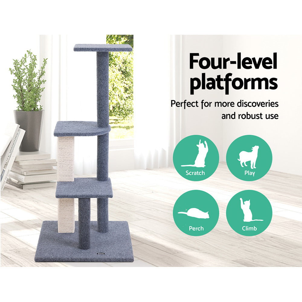 i.Pet Cat Scratching Post in Grey (100cm) - i.Pet Pet Supplies Australia