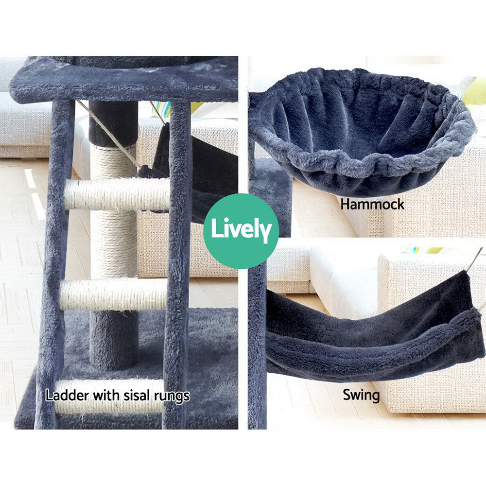iPet Royal Grey Big Cat Scratching Post (141cm) - i.Pet
