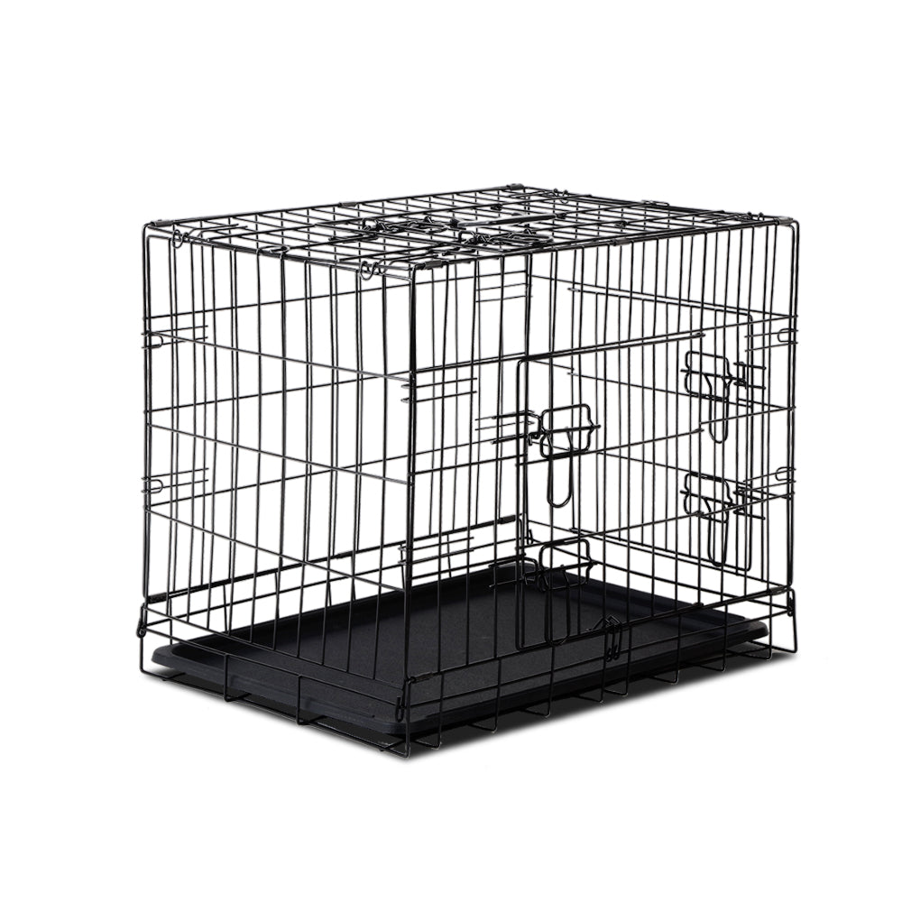 i.Pet 24 inch Foldable Pet Cage for Dogs - Black - i.Pet Pet Supplies Australia