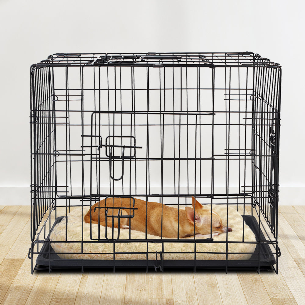 i.Pet 24 inch Foldable Pet Cage for Dogs - Black - i.Pet