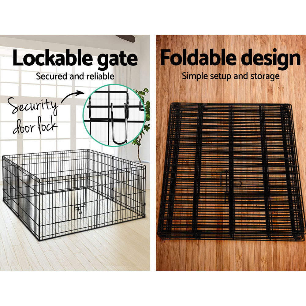 i.Pet 8-Panel Pet Playpen Suitable for Variety of Pets - i.Pet