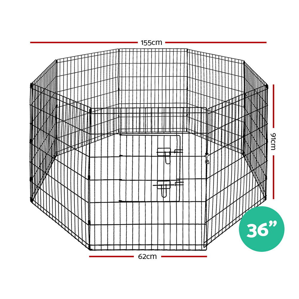 "i.Pet 8-Panel Pet Playpen for Dogs and Puppies (36"") - i.Pet Pet Supplies Australia"