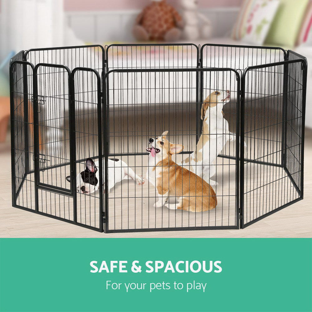 i.Pet 8-Panel Pet Playpen for Dogs and Puppies (80x100cm) - i.Pet