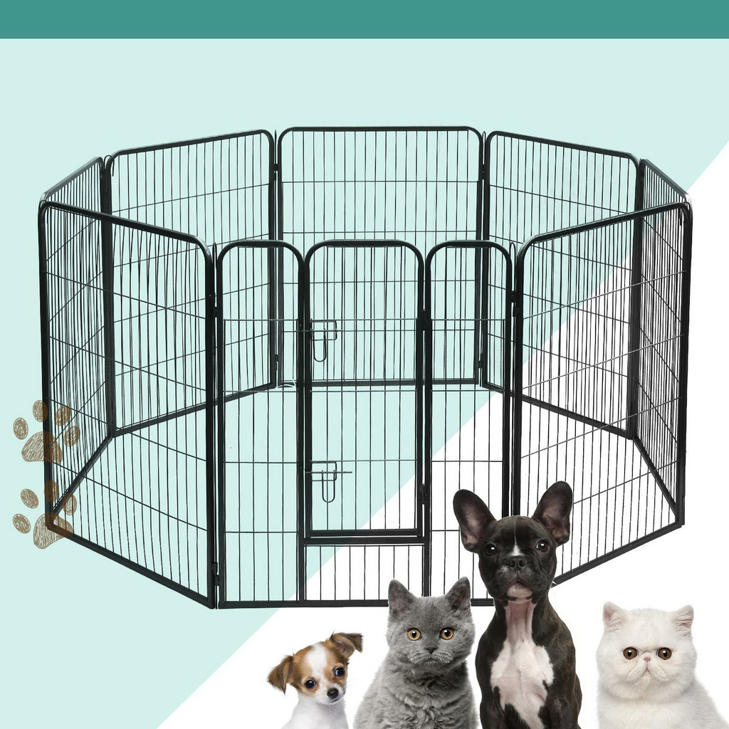 i.Pet 8-Panel Pet Playpen for Dogs and Puppies (80x100cm) - i.Pet Pet Supplies Australia