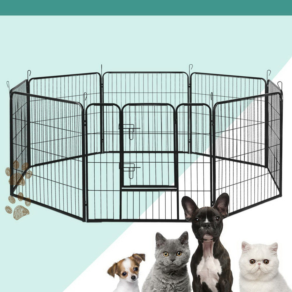 i.Pet 8-Panel Pet Playpen for Dogs and Puppies (80x80cm) - i.Pet Pet Supplies Australia