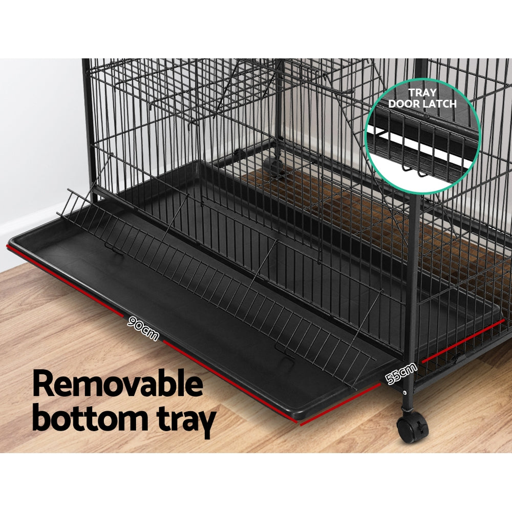 i.Pet 4 Level Cage for Bird, Ferret, Parrot, Aviary, Rabbit & Hamster (142cm) - i.Pet