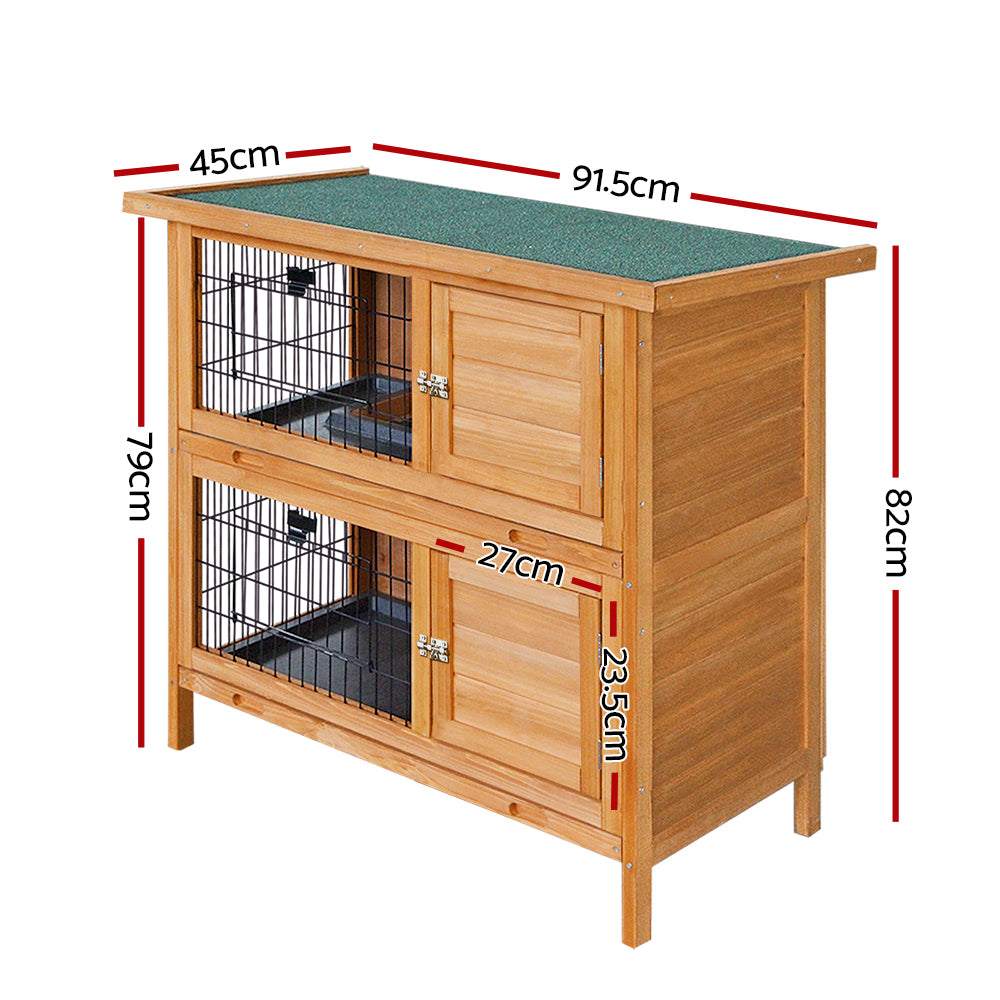 i.Pet 2 Storey Wooden Rabbit Hutch - i.Pet Pet Supplies Australia