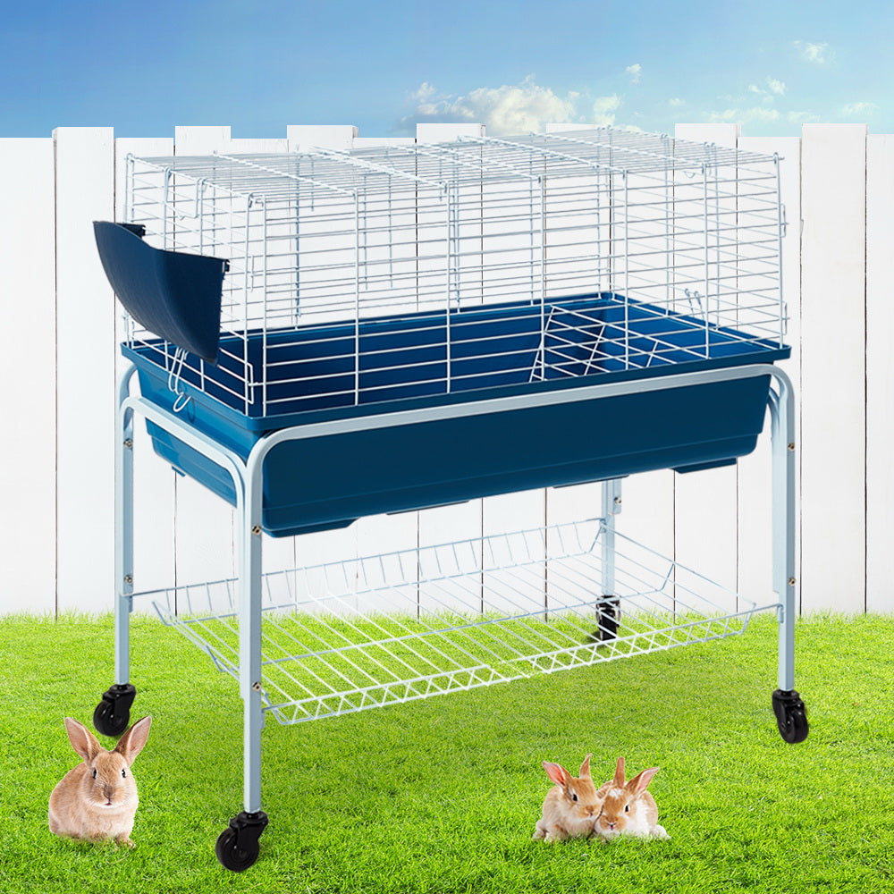 i.Pet Rabbit Bunny Guinea Pig Home - Wheeled stand rabbit cage hutch (80cm) - i.Pet Pet Supplies Australia