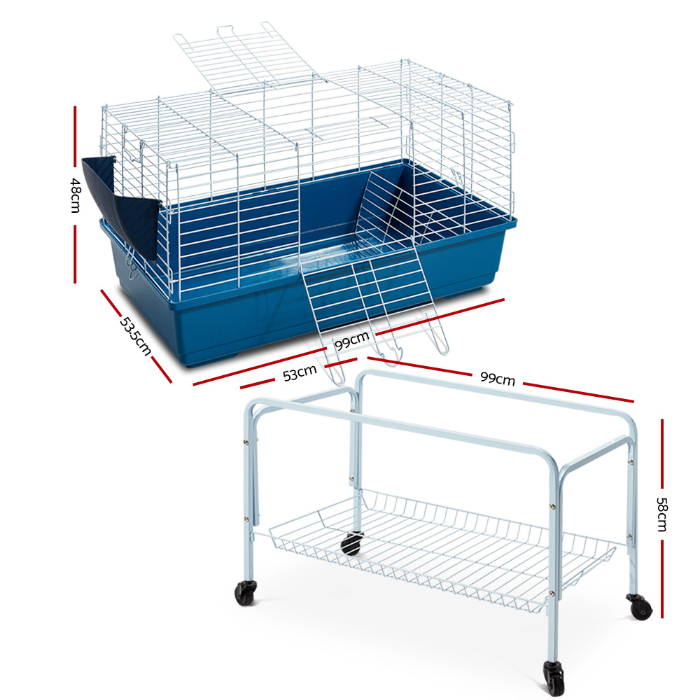 i.Pet Rabbit Bunny Guinea Pig Home Hutch Cage with Stand (100cm) - i.Pet Pet Supplies Australia
