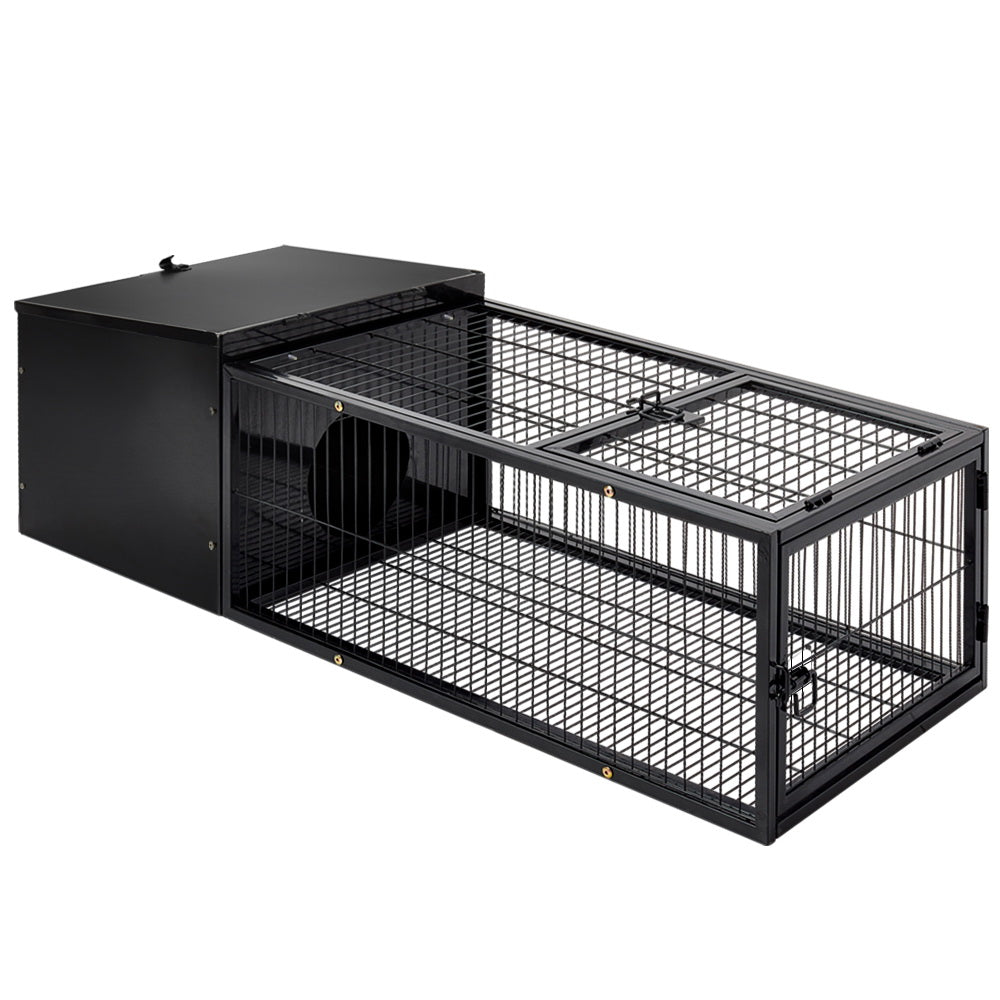 i.Pet Medium Metal Rabbit Hutch - Black - i.Pet Pet Supplies Australia