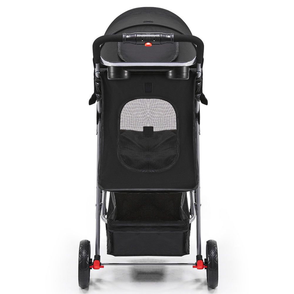 i.Pet 3 Wheel Pet Stroller for Dog or Cat in Black - i.Pet