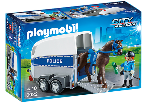 Playmobil 6922 - City Action - Polizeipferd mit Anhänger