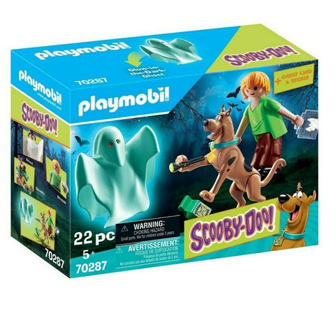 Playmobil 70287 - Scooby Doo! - Scooby & Shaggy mit Geist inkl. Sticker Set 👻