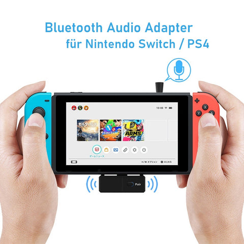 Bluetooth Audio Adapter für Nintendo Switch / PS4 mit Mikrofon Vikefon®