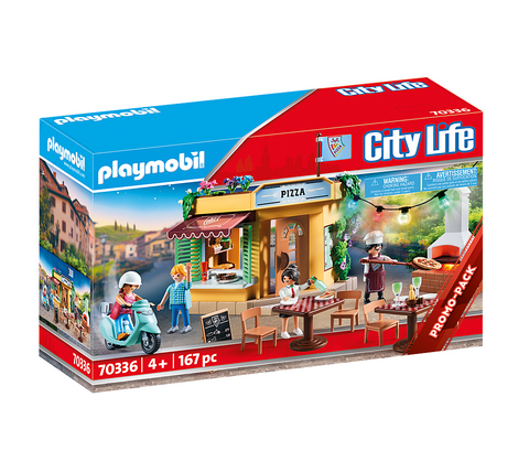 Playmobil 70336 - City Life - Pizzeria mit Gartenrestaurant [Limited Edition]