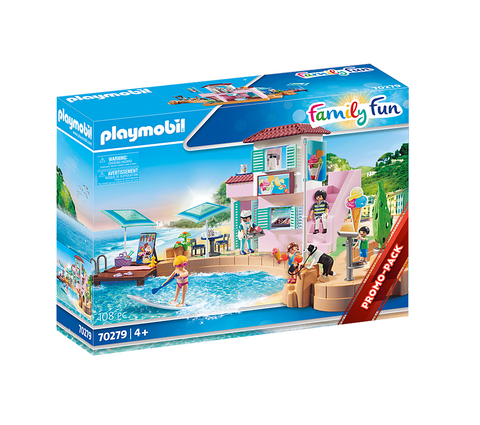 Playmobil 70279 - Family Fun - Eisdiele am Hafen Eiscafe [Limited Edition]