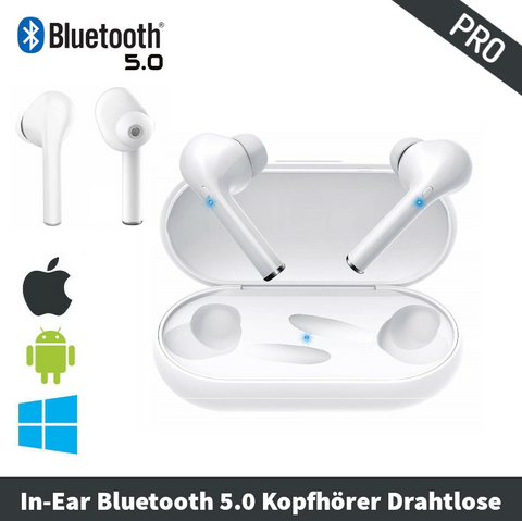 Pro Gbuds Wireless In-Ear Kopfhörer Bluetooth 5.0 Weiß | Noise Cancelling 🎧