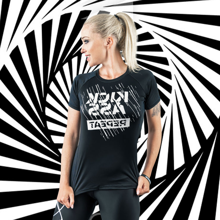 Fitness functional Shirt ♀ MIRROR-Print // KICKASS REPEAT