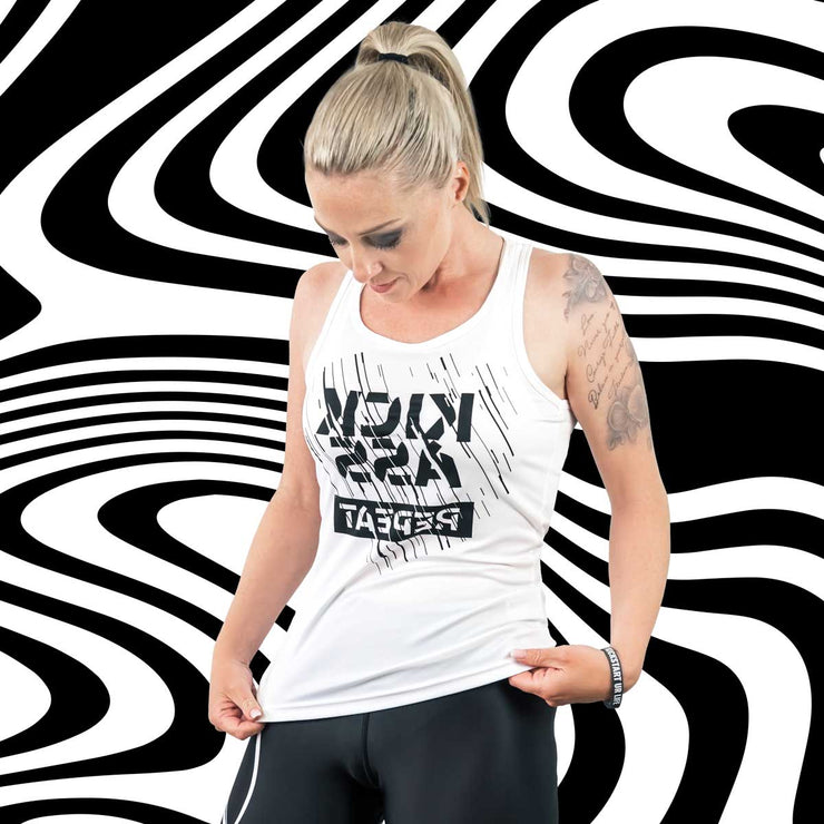 Fitness functional Tanktop ♀ MIRROR-Print // KICKASS REPEAT //