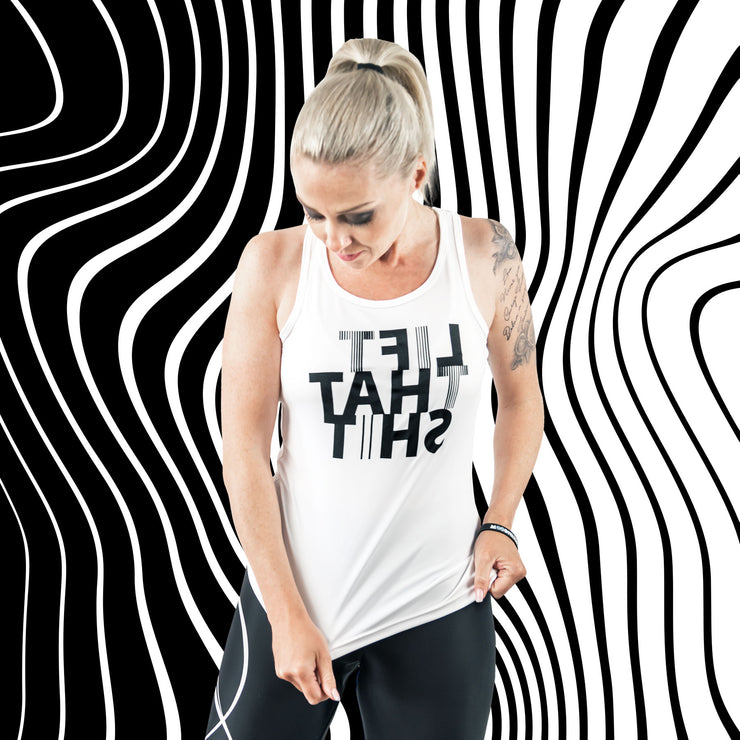 Fitness functional Tanktop ♀ MIRROR-Print // LIFT THAT SHIT //