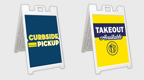 curbside pick up takeout a-frame signs