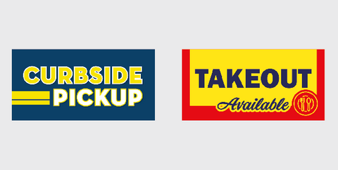 curbside pickup takeout vinyl banners