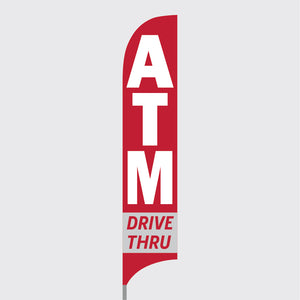ATM Drive Thru Feather Flag Kit