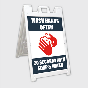Wash Hands Often A-Frame