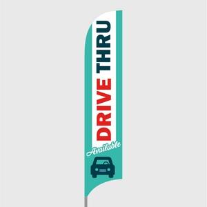 Drive Thru Feather Flag Kit