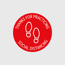 Load image into Gallery viewer, Thank You For Social Distancing Circular Floor Decal - 5 Pack