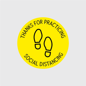 Thank You For Social Distancing Circular Floor Decal - 5 Pack