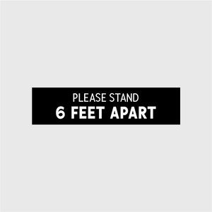 Please Stand 6 Feet Apart Rectangular Floor Decal - 10 Pack