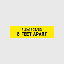 Load image into Gallery viewer, Please Stand 6 Feet Apart Rectangular Floor Decal - 10 Pack