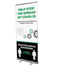 Load image into Gallery viewer, Retractable Banner Stand-Social Distancing