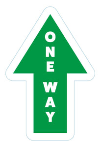 One Way Arrow Directional (Green) - 10 Pack