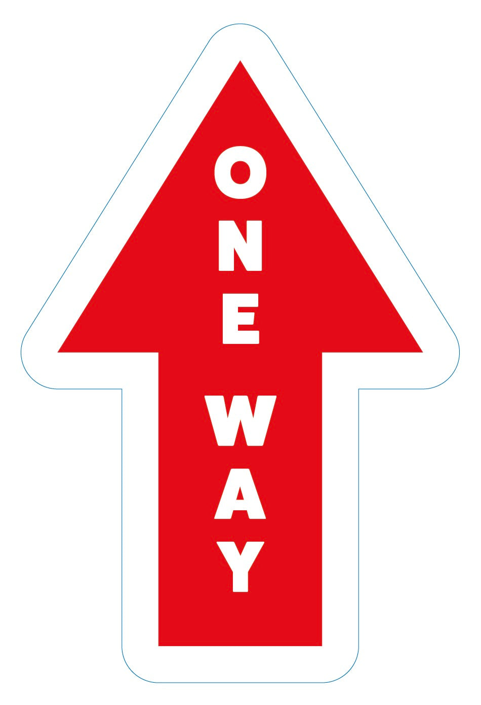 One Way Arrow Directional (Red) - 10 Pack