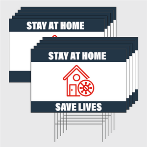 Stay At Home Signs w/Stands