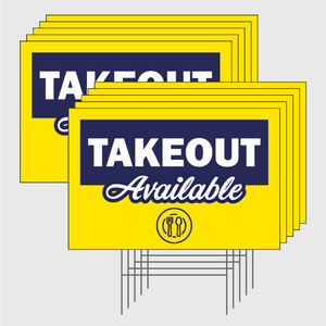Take Out Signs w/Stands