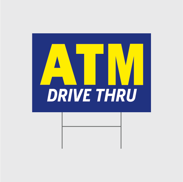 ATM Drive Thru Signs w/Stands