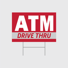 Load image into Gallery viewer, ATM Drive Thru Signs w/Stands