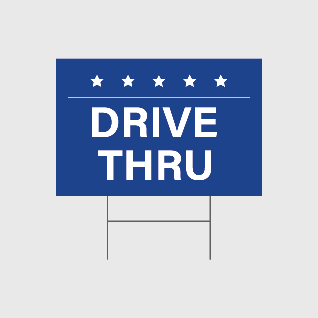 Drive Thru Signs w/Stands