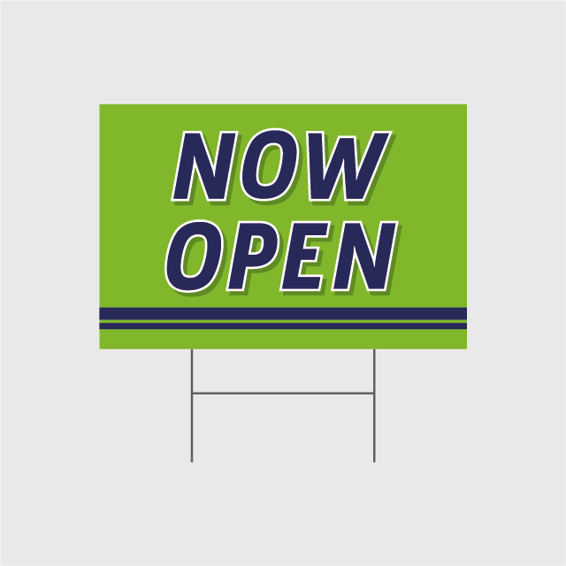 Now Open Signs w/Stands