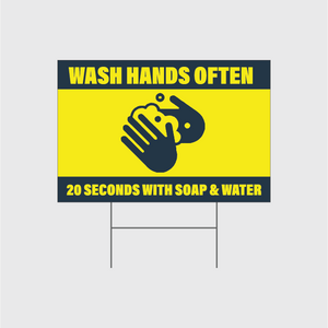 Wash Hands Often Signs w/Stands
