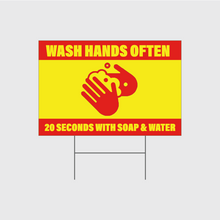Load image into Gallery viewer, Wash Hands Often Signs w/Stands
